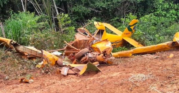 Piloto morre após avião agrícola cair em fazenda