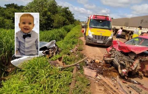 Criança morre após colisão entre carros e carreta na BR-163 em Sorriso