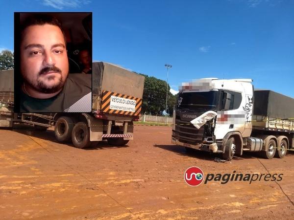 Homem morre prensado por duas carretas em pátio de empresa de armazenamento de grãos