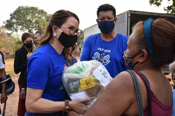 Primeira-dama estará em Sorriso para entrega de 650 cestas básicas da campanha Vem Ser Mais Solidário
