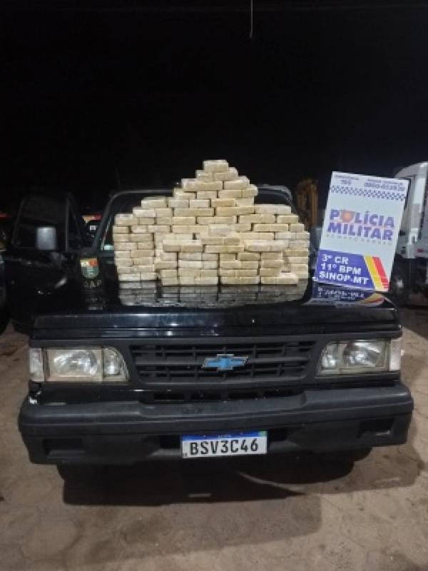Sinop: Polícia Militar apreende drogas avaliadas em R$ 2 milhões