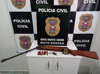 PJC de Nova Monte Verde prende em flagrante homem que matou a tiros um cachorro na zona rural