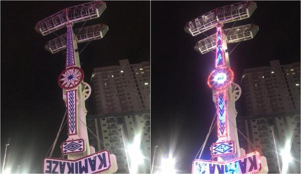 Brinquedo trava no ar e deixa pessoas de cabeça para baixo a 18 metros de altura em parque de diversões