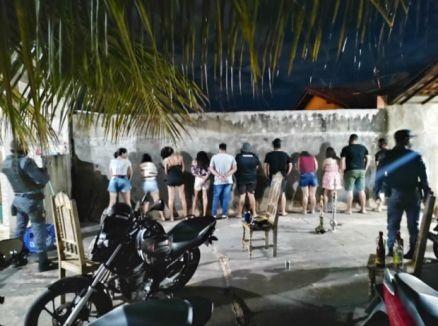 Polícia fecha seis festas clandestinas no interior de MT