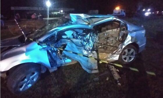 Motorista bate Civic contra pedra e morre em rodovia de MT