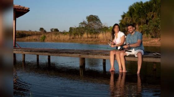 Foto mostra médico de MT feliz com noiva antes de morrer em sessão de fotos