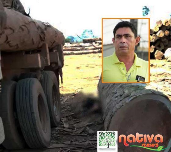 Motorista é esmagado por tora de madeira e morre na hora em MT