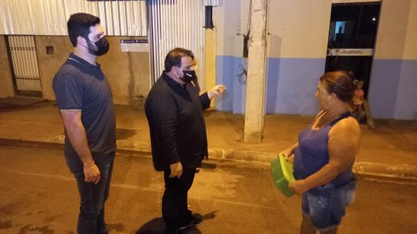 Vereadores e servidores da Câmara de Sorriso ouvem moradores do Mario Raiter sobre a falta de água