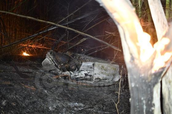 Gol capota em rodovia de MT, pega fogo e motorista morre queimado