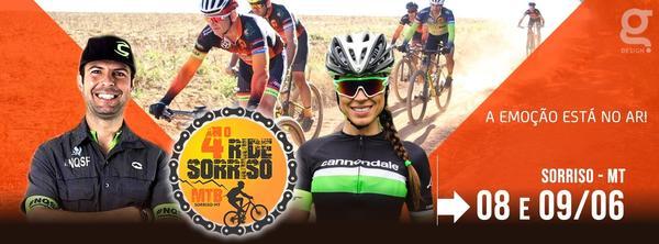 4º Ride Sorriso reunirá mais de 800 ciclistas na Capital Nacional do Agronegócio