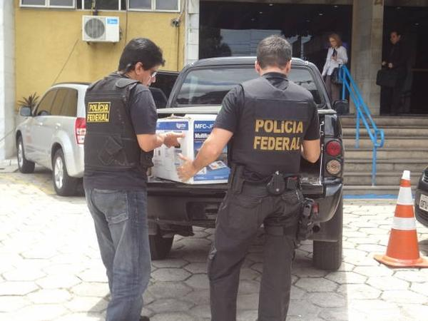 PF apreende documentos e computadores em operação no Pará