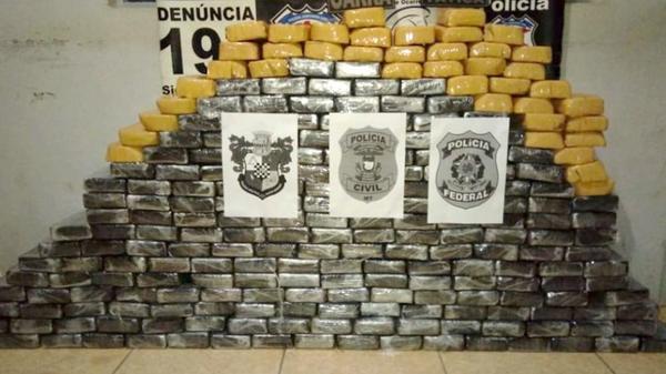 Polícias Federal, Civil e Militar apreendem 259 kg de cocaína avaliados em R$ 7 milhões no Nortão