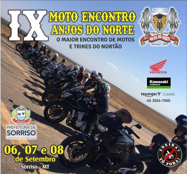 ?Com apoio da Prefeitura, Moto Clube Anjos do Norte realiza IX Mega Cycle em Sorriso