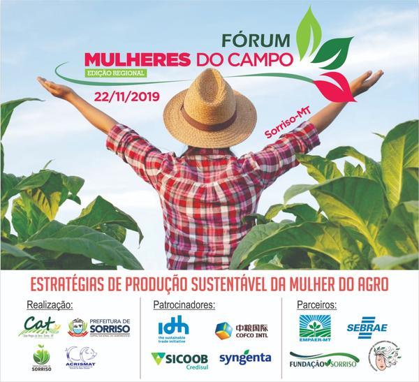 Sorriso: VIII Fórum Regional Mulheres do Campo será no dia 22 de novembro