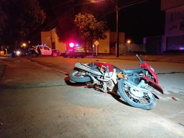 Acidente entre moto e viatura da PM é registrado na Perimetral Sudoeste
