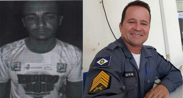 Sargento Vidal posta foto do acusado de estuprar e matar mãe: