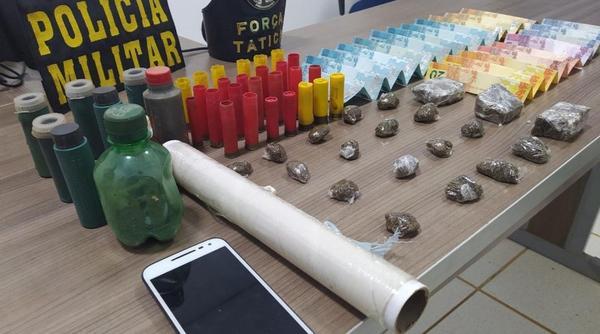 Ipiranga do Norte: Duas pessoas são presas pela Força Tática por tráfico de drogas