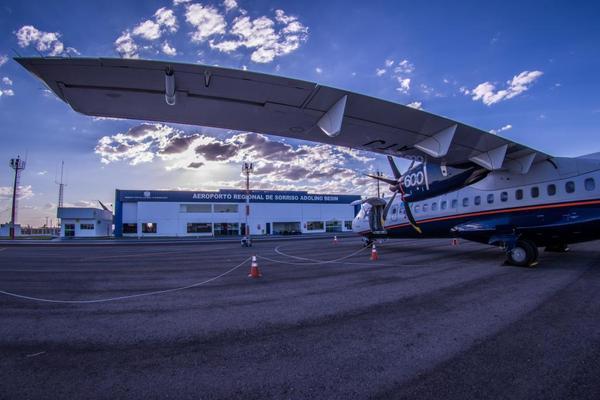 Executivos da Azul estão em Sorriso para avaliar se voos com aviões ATR podem ser retomados