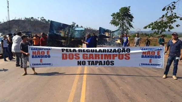 Garimpeiros chegam a acordo e desbloqueiam BR-163 no Pará